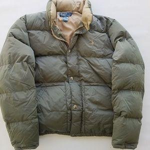 Polo Ralph Lauren Green Down Puffer Coat Mens